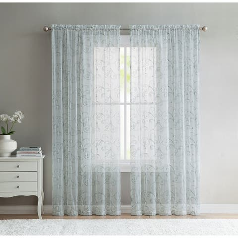 VCNY Home Elizabeth Sheer Curtain Panel