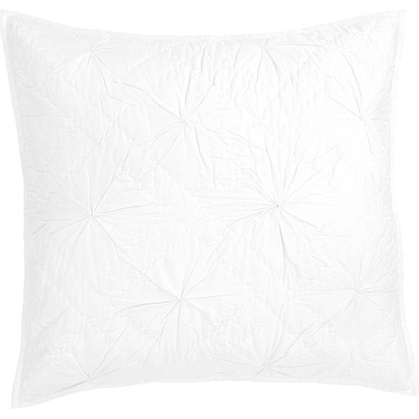 VHC Brands Farmhouse Bedding Aubree Hand Quilted Parchment Cotton Euro Sham