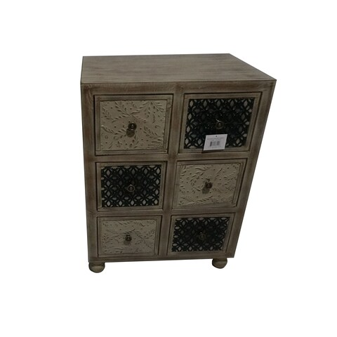 Jeco Bown Wood 30-inch 6-drawer Cabinet