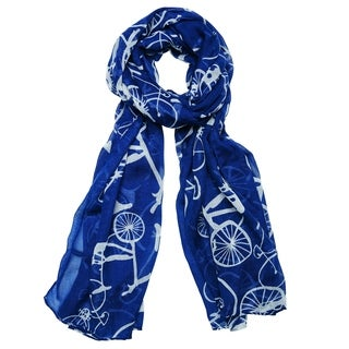 San Diego Hat Company Bay Sky Lightweight Bicycle Print Scarf