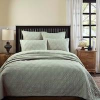 Farmhouse Bedding VHC Casey Quilt Cotton Solid Color Cambric