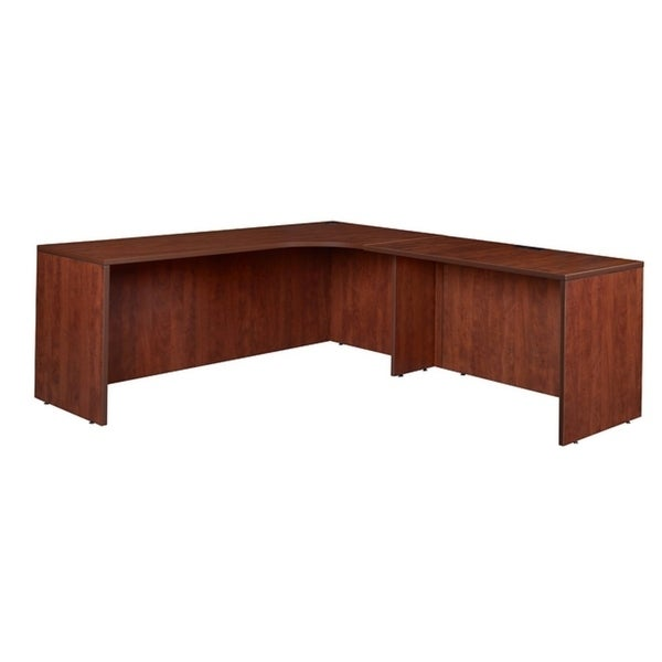 """Legacy 71"""" Right Corner Credenza Shell with 47"""" Return Shell- Cherry"""