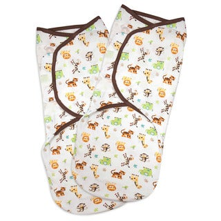 Summer Infant SwaddleMe Large Cotton Graphic Jungle (Pack of 2)