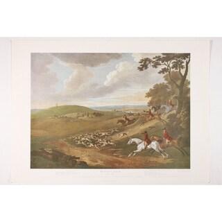 Foxhunting Plate II premium Art Print of Animals by TN Sartorius