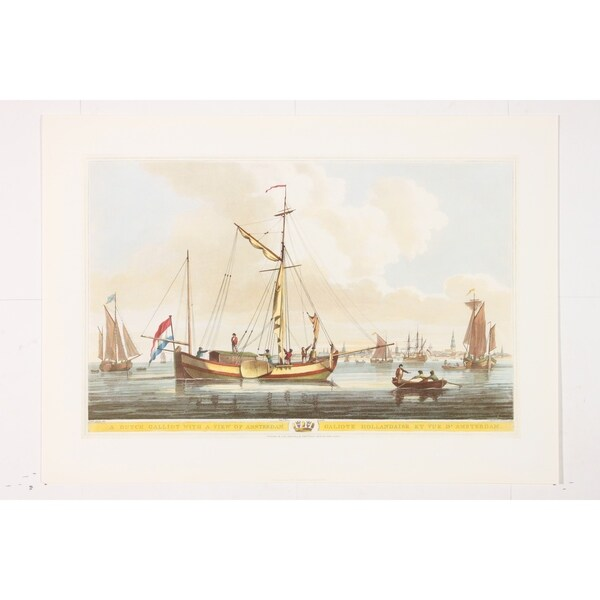 A Dutch Galliot Fine Art Print by John Thomas Serres
