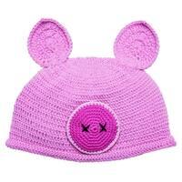 ad0b93f7e48 San Diego Hat Company Children s Cotton Crochet Piglet Beanie DL2533 Pig