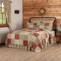 Red Farmhouse Bedding VHC Prairie Winds Quilt Cotton Patchwork