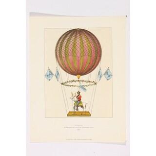 Ascension de Margat premium Art Print of Hot Air Balloon