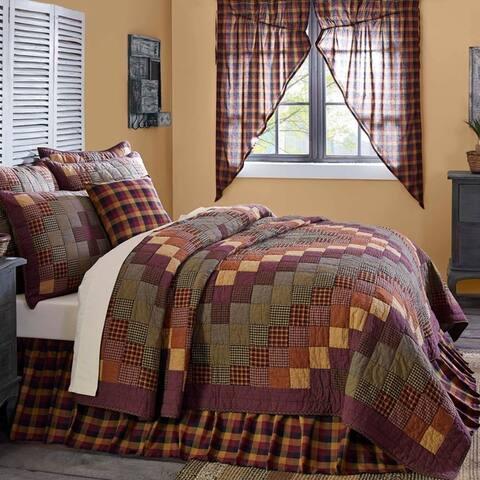 Red Primitive Bedding VHC Heritage Farms Quilt Cotton Patchwork