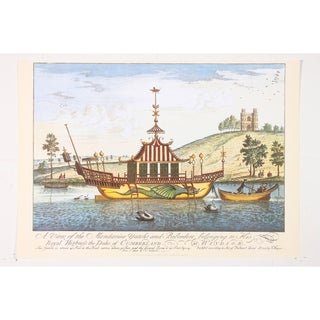 Mandarine Yatcht & Belvedere premium Art Print of Sailboat Art