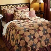 Tan Primitive Bedding VHC Tea Star Quilt Cotton Star Patchwork