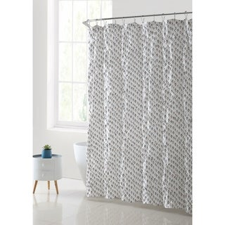 VCNY Palma Printed with Kissing Pleat Shower Curtain