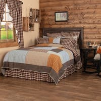 Grey Rustic & Lodge Bedding Sheridan Rustic Brown Quilt Cotton Patchwork Chambray