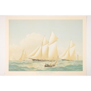 Atlantic Y.C. Regatta Wall Art Print by Frederick Cozzens