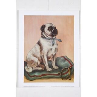 Clifton the Pug premium Art Print of Dog by Alexandra Churchill