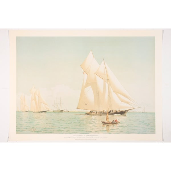 America's Cup 1876 Fine Art Print by Frederick Cozzens