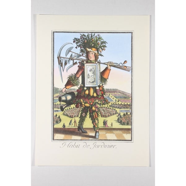 Habit de Jardinier Premium Art Print by Nicolas Larmessin