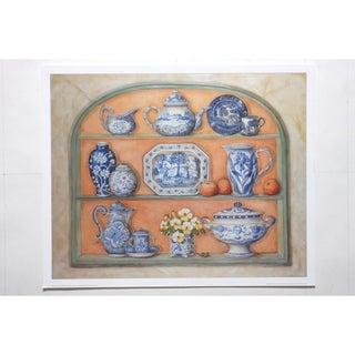 Kitchen China with Oranges Premium Art Print by Alexandra Churchill