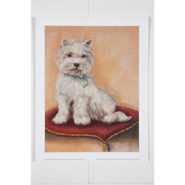 Millie the Westie Fine Art Print by Alexandra Churchill