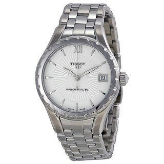 Tissot Women's T0722071103800 'T-Lady Powermatic' Automatic Stainless Steel Watch - Silver|https://ak1.ostkcdn.com/images/products/17819404/P24011235.jpg?_ostk_perf_=percv&impolicy=medium