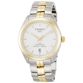 Tissot Men's T1014512203100 'PR 100' Two-Tone Stainless Steel Watch - White