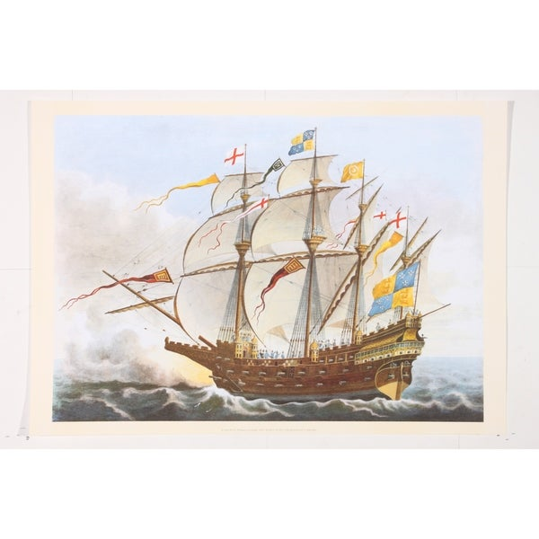 The Great Harry War Ship premium Art Print of Sailboat Art