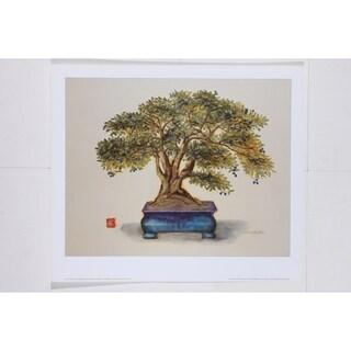 Bonsai in Turquoise Vessel Fine Art Print by Alexandra Churchill