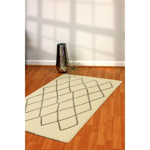 "Artworks Ivory/Black Area Rug - 2'7"" x 4'7"""