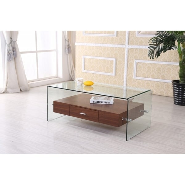 Shop Best Quality Furniture Modern Glass-top Coffee Table