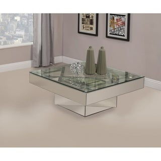 Best Quality Furniture Mirrored Glass Coffee Table