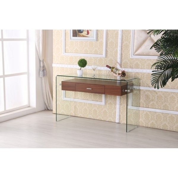 Top Quality Furniture: Shop Best Quality Furniture Modern Glass-top Console Table