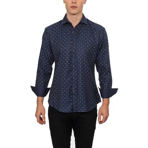 Warriors & Scholars Slim-Fit Printed Button Down Shirt