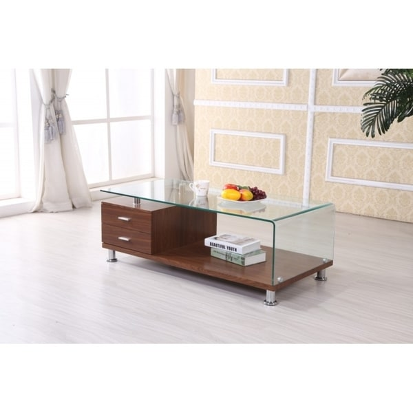 Shop Best Quality Furniture Rectangular Glass-top Coffee