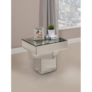 Best Quality Furniture Mirrored Glass End Table