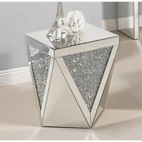 Best Quality Furniture Mirrored End Table with Crystal Accent
