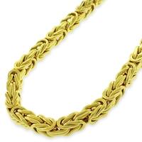 """14k Yellow Gold 5mm Hollow Byzantine Box Link Necklace Chain 20"""" - 30"""""""
