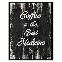Coffee Is The Best Medicine Saying Canvas Print Picture Frame Home Decor Wall Art