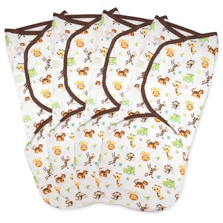 Summer Infant SwaddleMe Graphic Jungle Small Cotton Knit (Pack of 4)