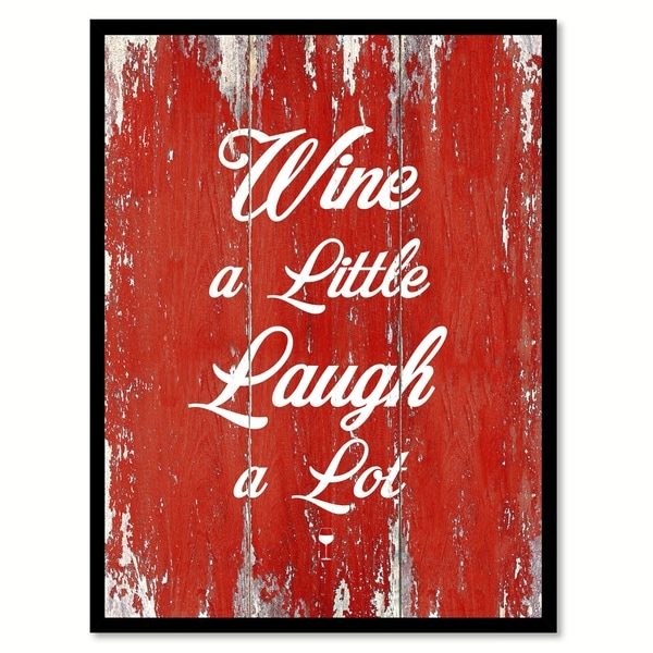 Wine A Little Laugh A Lot Saying Canvas Print Picture Frame Home Decor Wall Art
