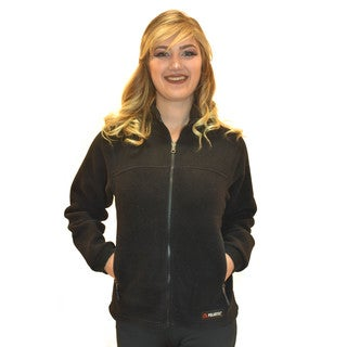 Spiral Women's Classic Polartec 200 Black Fleece Jacket