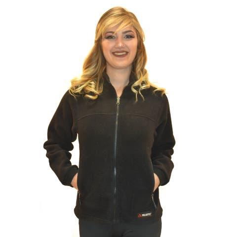 Spiral Women's Classic Polartec 200 Black Fleece Jacket