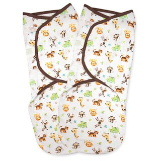 Summer Infant SwaddleMe Graphic Jungle Small Cotton Knit (Pack of 2)