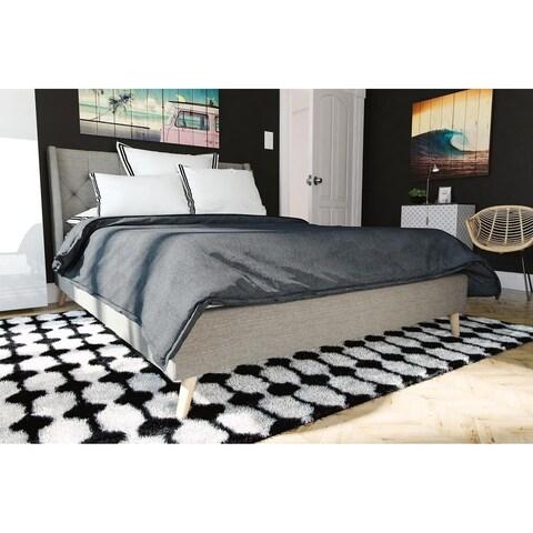 Carson Carrington Trelleborg Linen Wingback Tufted Bed