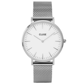 Cluse LA BOHÈME Women's CL18105 Silver-tone Stainless Steel Mesh Bracelet Watch