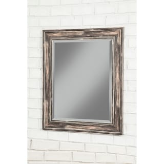 Sandberg Furniture Antique Black Farmhouse 36 x 30 inch Wall Mirror - Antique Black - A/N