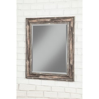 Sandberg Furniture Antique Black Farmhouse 36 x 30 inch Wall Mirror - Antique Black