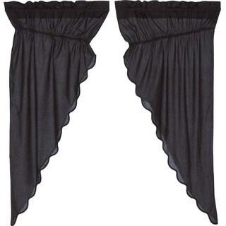 "Arlington Scalloped Lined Prairie Curtain Set - 63"" x 36"""