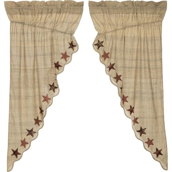 "Abilene Star Prairie Curtain Set - 63"" x 36"""