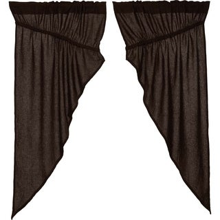 "Burlap Prairie Curtain Set - 63"" x 36"""
