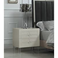 Chic Home Lucca Nightstand Side Table With Soft-closing Drawers